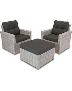 Bardani Florida loungeset 4 misty grey